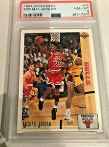 1991 Upper Deck Basketball Michael Jordan Chicago Bulls #44 PSA 8 NM-MT
