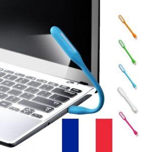 Lampe LED USB Flexible Pliable en Silicone pour PC Ordinateur Voyage 2 Couleurs