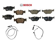 For BMW e46 2wd Brake Pad KIT Front+Rear BOSCH Pads+Sensors friction linings
