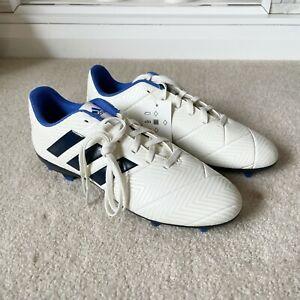 Adidas Size 8.5 8 1/2 Medium Ivory & Blue Nemeziz 18.4 FG W Soccer Cleats Womens