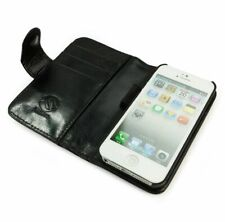 TUFF LUV Vintage Leather Wallet-Style Case for iPhone 5 / 5S / SE - Black