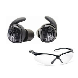 Walker's Razor Silencer Electronic Shooting Earbuds Pair with Case & Glasses Kit
