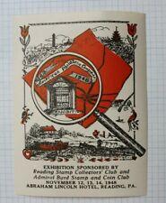American Congress 1946 Expo Reading Pa Stamp Coin Club Philatelic Souvenir Label