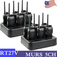 Retevis Rt27V Walkie Talkies Vhf 5Ch Murs Two Way Radio long range 6way charger