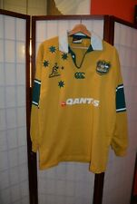 Australia Wallabies rugby union jersey shirt 2004 home long sleeve L (#12)