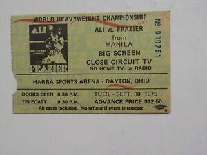 MUHAMMAD ALI vs JOE FRAZIER III Boxing Ticket 1975 Dayton Ohio Cassius Clay