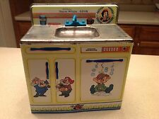Vintage Wolverine Disney Snow White Seven Dwarfs Tin Litho Play Sink Dishwasher