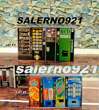 FOUR Vending Machine (one wood block) 1:64 (S) Scale DIORAMA miniature!