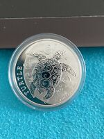 2021 Niue Silver $2 1oz Silver Bullion Coin Hawksbill Sea Turtle Flying Out!