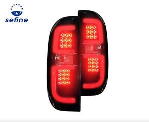 Recon 264288BK - Black/Smoke Fiber Optic LED Tail Lights for 14-17 Toyota Tundra