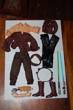 "Anakin Skywalker AOTC 12"" Outfit-Hasbro-Star Wars 1/6 Scale Custom Side Show"