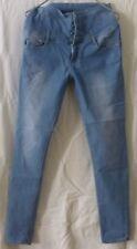 blaue Jeans - Hochschnitt von Seven Days Gr. XL/42