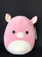 """New XL 16/"""" Squishmallow Peter the Pink Pig Curly Tail Soft Plush Farm Animal"""