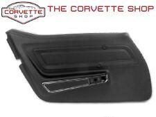 C3 Corvette Standard Door Panel Black Left Hand LH Std 1970-1976  442320