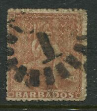 Barbados 1859 4d rose red used