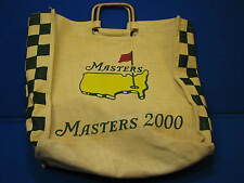 2000 Masters Golf Bag Tote Jute Augusta National Burlap PGA Official Carry All