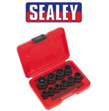 Sealey 11 Piezas 9mm-19mm Dañada Tornillo/Tuerca Quitar Extractor Set de Vasos