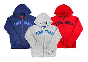 Boys Hoodie Jumper Zip Up Jacket Official Firetrap 2-13 Years Old
