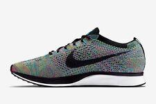 Nike Flyknit Racer Multi Color Size 9.5 Green Strike Black Blue 526628 304
