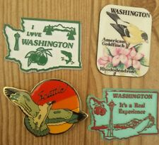 Washington State Refrigerator Magnets Space Needle Seattle Goldfinch lot of 4
