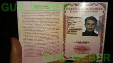 The Bourne Identity supremacy Ultimatum RUSSIAN passport prop Jason BOURNE NEW!