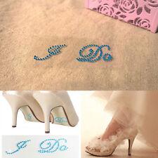 Me Too I Do Diamante Crystal Rhinestone Wedding Shoe Sticker Decal Applique Post
