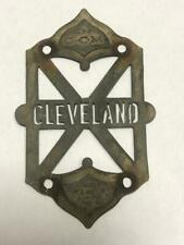 early antique CCM CLEVELAND bicycle HEAD BADGE tag Lozier