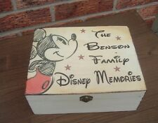 shabby vintage chic wooden personalised disney memory box keepsakes rustic