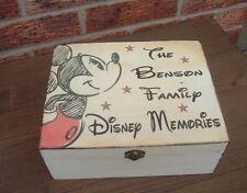 shabby vintage chic wooden personalised disney memory box keepsakes rustic