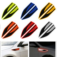 Secure Reflector  Blades Shape Car Fender Stickers Reflective Warning Strip