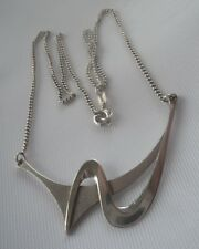LARGE Modernist Abstract Silver Pendant h/m 1989/1991 David Andrew Hall - Durham