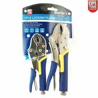"2pc Bluespot Grip Wrench Vice Locking Lock Pliers Mole Grips Tools 7"" & 10"""