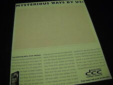 U2 Mysterious Ways bits and bites o's and 1's 1993 PROMO DISPLAY AD mint cond