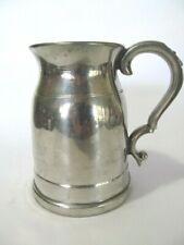 English Pewter Tankard Beer Mug Stein Made In Sheffield England