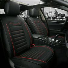 Komplettset Sitzbezüge schwarz mit rot Komfort Schonbezüge aus Stoff elegant