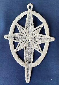 Christmas Decoration/Ornament - cream lace Star