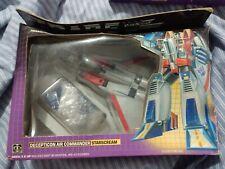 TRANSFORMERS 1984 Box 1983 Toy STARSCREAM G1 PRE-RUB RARE! Gen 1 Generation One!