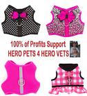 Top Paw Harness Vest Cute Pink Polka Dot Plaid Cheetah Leash XXS XS S Girl Dog
