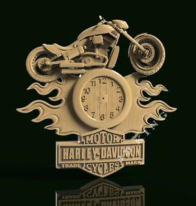 STL 3D Models Clock Harley Davidson for CNC Router 3D Printer Engraver Carving
