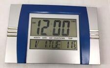 Digital Wall Mountable Clock LCD 8050 Alarm Temp Calendar Timer 2 Line Display