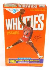 1989 General Mills MICHAEL JORDAN 18 oz. Empty Cereal Box Jump Shot Leg Split