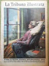 La Tribuna Illustrata 14 Dicembre 1952 Morte Elena di Savoia Montpellier Camici