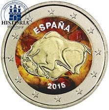 Spanien 2 Euro Höhlenmalereien von Altamira 2015 bankfrisch Gedenkmünze in Farbe