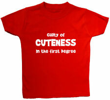 Guilty of Cuteness..Baby/Children T-Shirt/Top NB to 6yr Acce Gift Boy Girl Funny