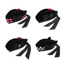 Vêtements traditionnels noirs en 100% laine de Écosse