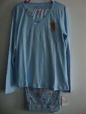 New Disney Winnie the Pooh Blue Sleep Night Wear  2X Flower Romantic Floral NWT