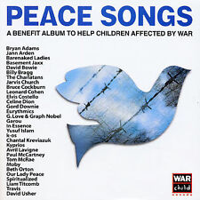 PEACE SONGS Children Benefit 2-Disc CD SET Celine Dion Paul McCartney Bowie Moby