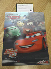 DISNEY PIXAR CARS 2 LIMITED EDITION 3-D LITHOGRAPH PRINT