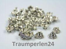 100 Perlkappen Krone Stern 6mm antiksilber Kappen Endkappen Perlenkappen Spacer