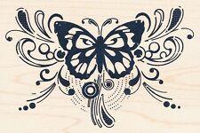 "Butterfly Magic 60-00456 Inkadinkado Rubber Stamp 4"" x 2 3/4""  Free Shipping NEW"